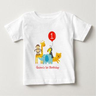 Jungle Zoo Safari Animals Birthday Tee T shirt