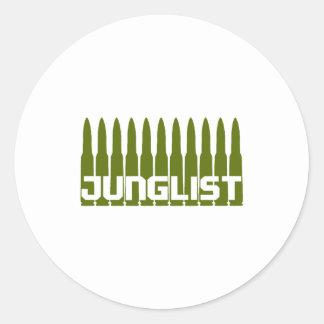 Junglist Green Classic Round Sticker