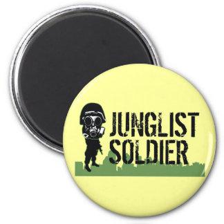 Junglist Soldier 2 Inch Round Magnet