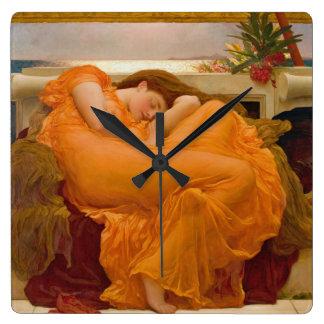 Junio de 1895 llameante reloj cuadrado