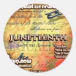 Junio - JuneTeenth Etiqueta Redonda