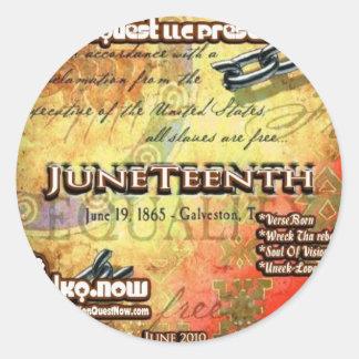 Junio - JuneTeenth Pegatina Redonda