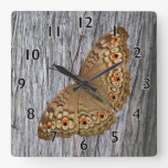 Junio Panther Butterfly Square Wall Clocks