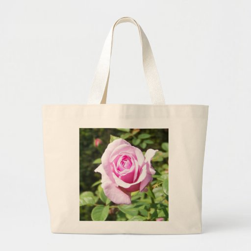 Junio subió - rosa bolsa tela grande