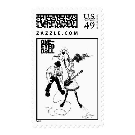 Junior and Kimberly Comic Book Heroes Stamp