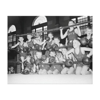 Junior Boxing, 1939 Canvas Print