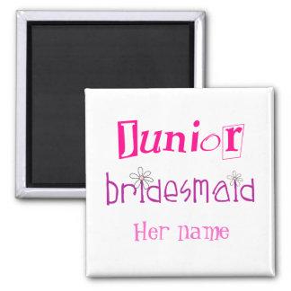 Junior Bridesmaid 2 Inch Square Magnet