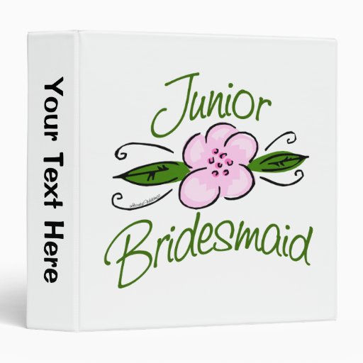 Junior Bridesmaid 3 Ring Binders