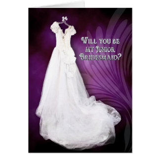 JUNIOR BRIDESMAID - BRIDAY PARTY ATTENDANT INVITAT GREETING CARD