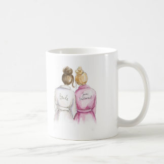 Junior Bridesmaid? Brunette Bun Bride Blonde Maid Coffee Mug