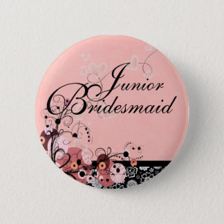 Junior Bridesmaid by Request Pinback Button