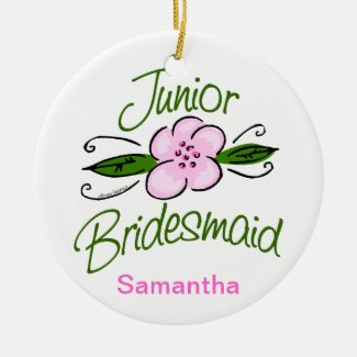 Junior Bridesmaid Ceramic Ornament