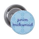 Junior Bridesmaid (Design 3) Pinback Button