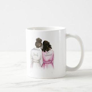 Junior Bridesmaid? Dk Br Bun Bride Curly Br Maid Coffee Mug
