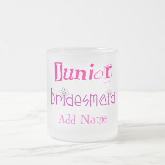 Junior Bridesmaid Frosted Glass Coffee Mug