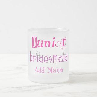 Junior Bridesmaid Frosted Glass Coffee Mug