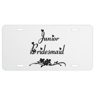Junior Bridesmaid License Plate