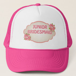 Junior Bridesmaid (pink floral) Trucker Hat