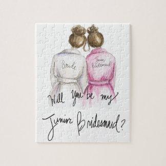 Junior Bridesmaid? Puzzle Br Bun Bride Br Bun Maid
