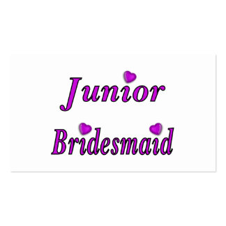 Junior Bridesmaid Simply Love Business Card Templates