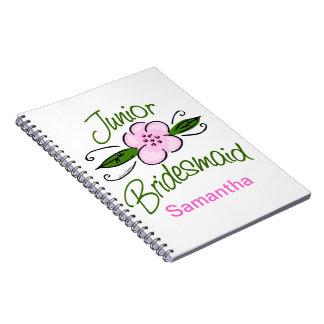 Junior Bridesmaid Spiral Note Book