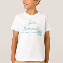 Junior Bridesmaid Teal Elegance T-Shirt