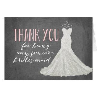 Junior Bridesmaid Thank You   Bridesmaid Card