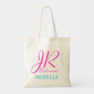 Junior bridesmaid tote bag  personalized with name