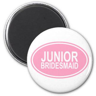Junior Bridesmaid Wedding Oval Pink 2 Inch Round Magnet