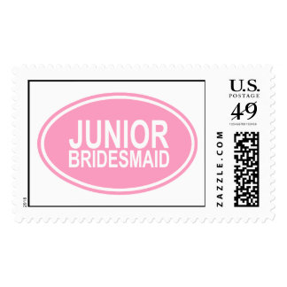 Junior Bridesmaid Wedding Oval Pink Postage