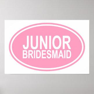Junior Bridesmaid Wedding Oval Pink Print