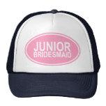 Junior Bridesmaid Wedding Oval Pink Trucker Hat
