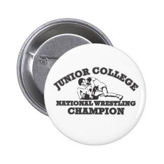 Junior College Wrestling Champion Button