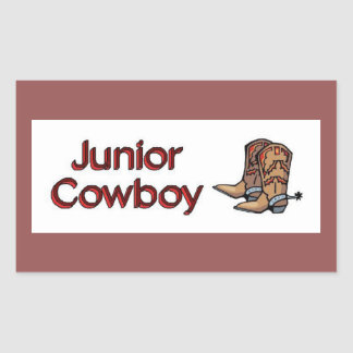 Junior Cowboy Rectangular Sticker