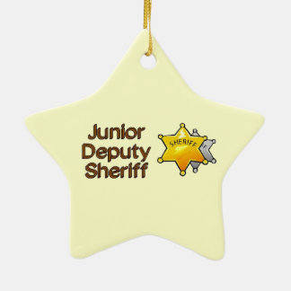 Junior Deputy Sheriff Ceramic Ornament