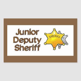 Junior Deputy Sheriff Rectangular Sticker