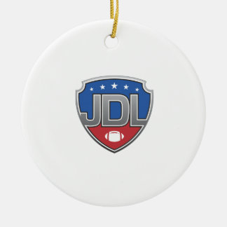 Junior Development Leage Football Ceramic Ornament