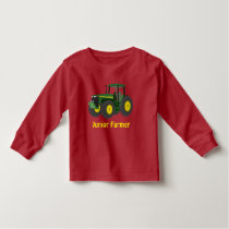 """""""Junior Farmer"""" and green tractor Toddler T-shirt"""