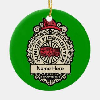 Junior Firefighter's Badge Christmas Tree Ornament