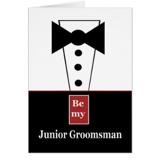 JUNIOR GROOMSMAN Invitation with Tux - Funny