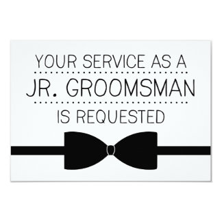 Junior Groomsman Request | Groomsmen 3.5x5 Paper Invitation Card