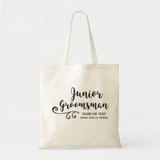 Junior Groomsman Tote Bag | Chic Modern Script