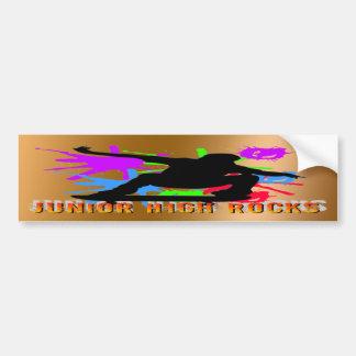 Junior High Rocks - Skateboarder Car Bumper Sticker