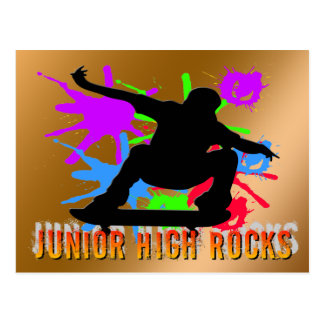 Junior High Rocks - Skateboarder Postcard