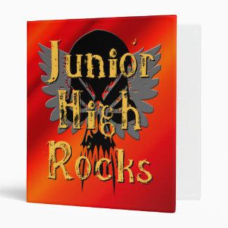 Junior High Rocks - Skull Wings Binder
