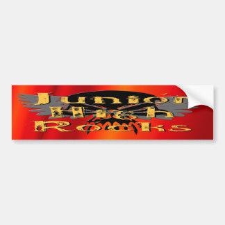 Junior High Rocks - Skull Wings Car Bumper Sticker