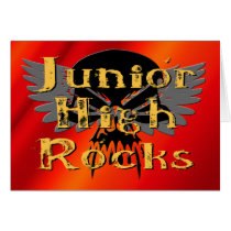 Junior High Rocks - Skull Wings Card