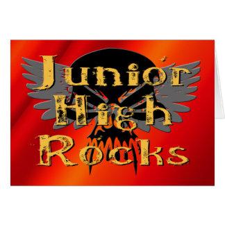 Junior High Rocks - Skull Wings Card