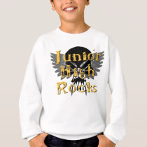 Junior High Rocks - Skull Wings Sweatshirt