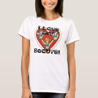 Junior I Love My Scouts Heart T-Shirt